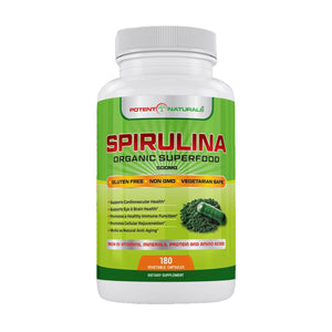 Organic SPIRULINA Superfood / 180-VCaps (SALE $5 OFF Use CODE: SAVE5)