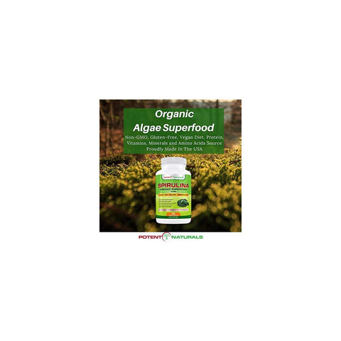 Image of Organic SPIRULINA Superfood / 180-Veggie Capsules