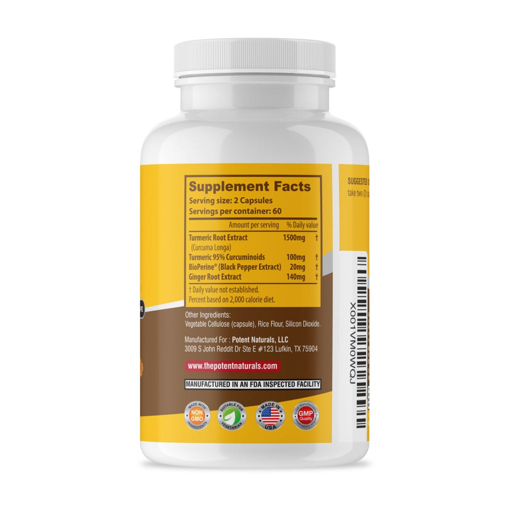 TURMERIC Curcumin & Ginger With Bioperine 1500mg