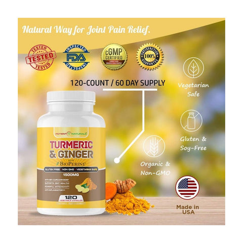 Image of TURMERIC Curcumin & Ginger With Bioperine 1500mg