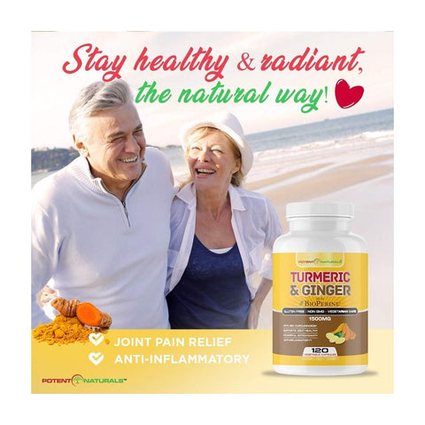 Image of TURMERIC Curcumin & Ginger With Bioperine 1500mg - Potent Naturals