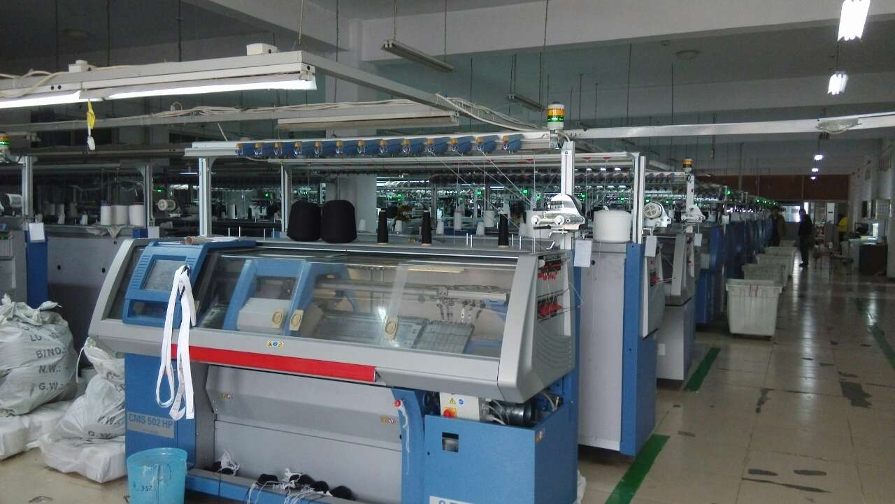 A factory producing Maxted knitwear
