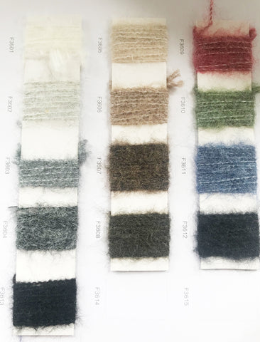 An example of Maxted's knitwear yarns