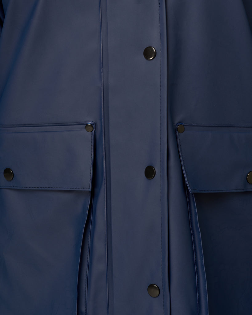 Bright Navy Raincoat