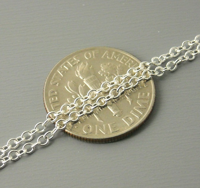 2x1.5mm 18' Sterling Silver Plated Chain - 1 necklace