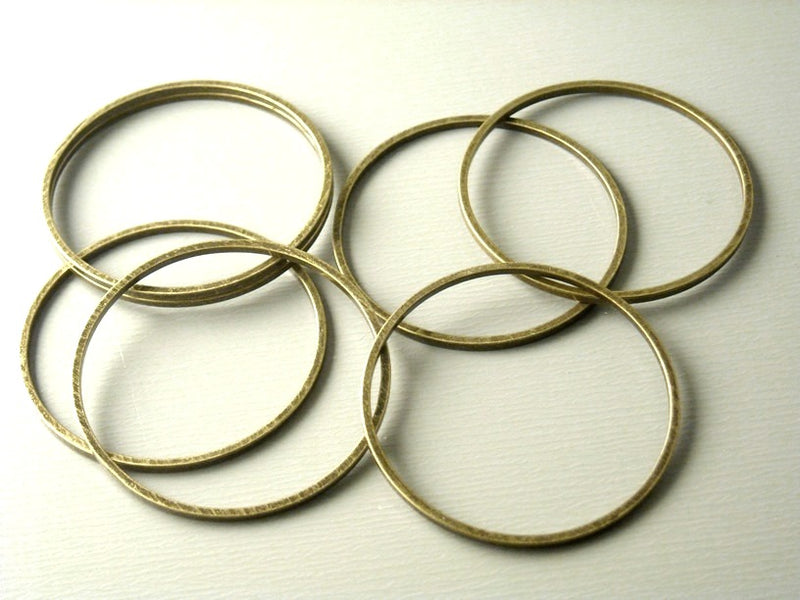 Links - Antique Bronze - Circle - 12mm & 25mm - Choose your size - Pim's Jewelry Supplies
