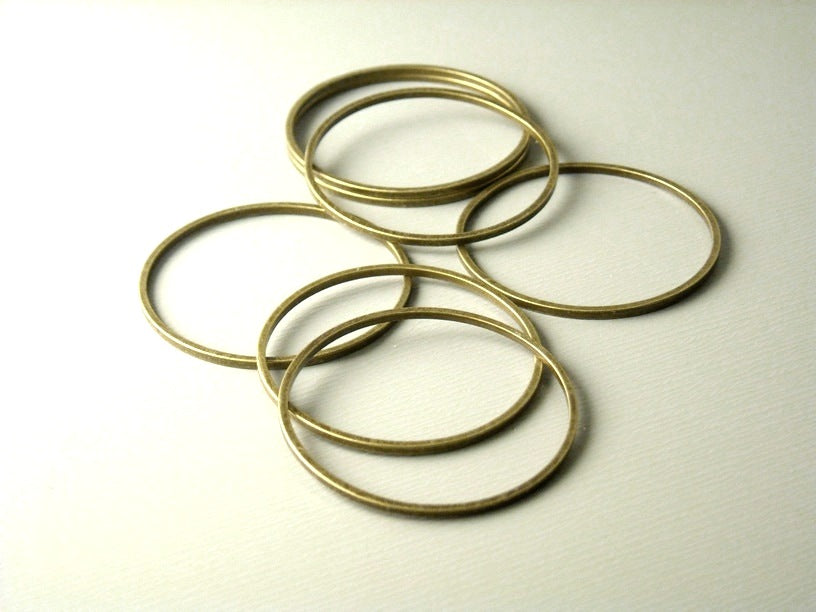 Links - Antique Bronze - Circle - 12mm & 25mm - Choose your size