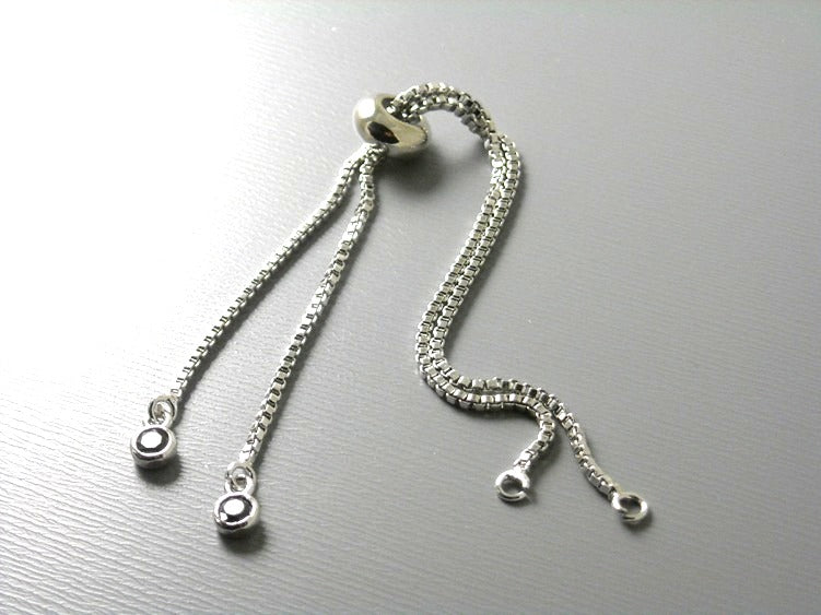 Box Chain Bracelet Findings - 1mm box chain - 1 bracelet
