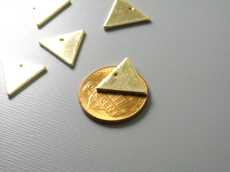 Charm - KC Gold Plated - Triangle Shape - 12mm x 14mm - 4 pcs