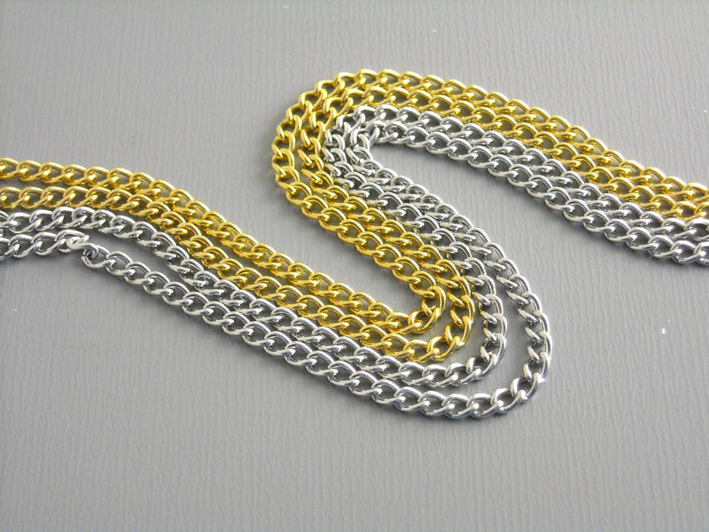 Necklace - Stainless Steel Rope Chain - Gold or Platinum Plated - 2mm - Choose your length & plating