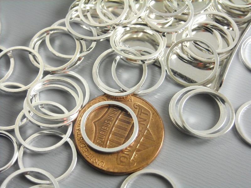 Links - Silver Plated - Circle - 12mm & 25mm - Choose your size