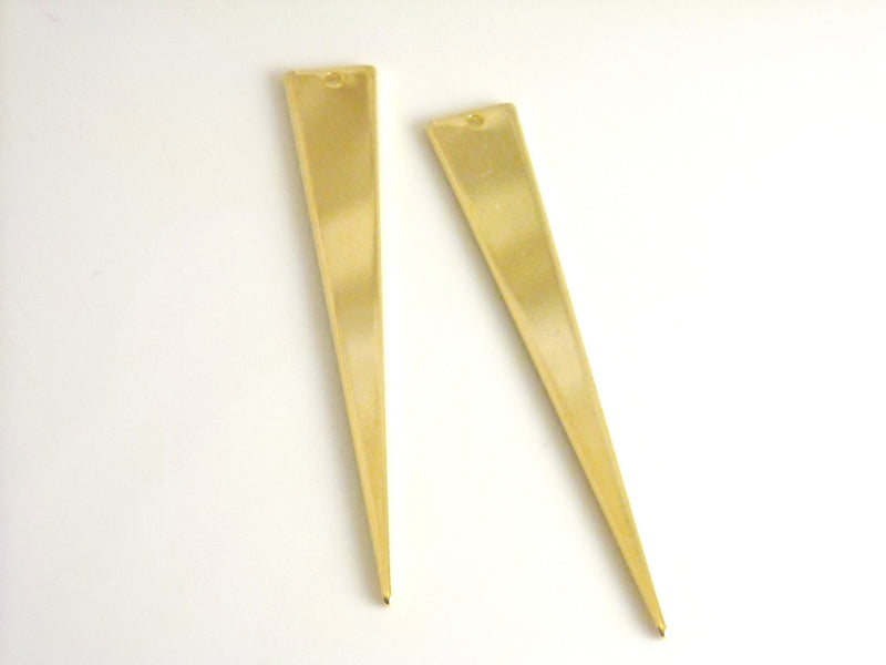 CHARM - 18k Gold Plated - Triangle - 51mm - 2 pcs