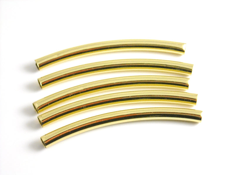 Tubes - 14k Gold Plated - 50mm x 3mm - 1 pc