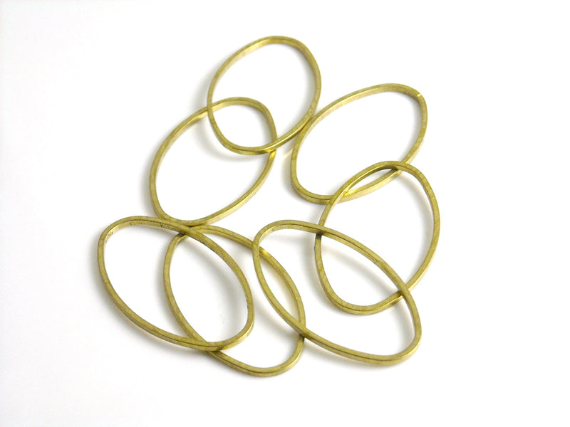 Links - Raw Brass - Oval - 26.2mm x 16mm - 20 pcs