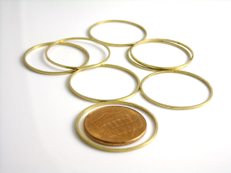 Links - Raw Brass - Circle - Choose your size - 12mm / 25mm - Pim's Jewelry Supplies