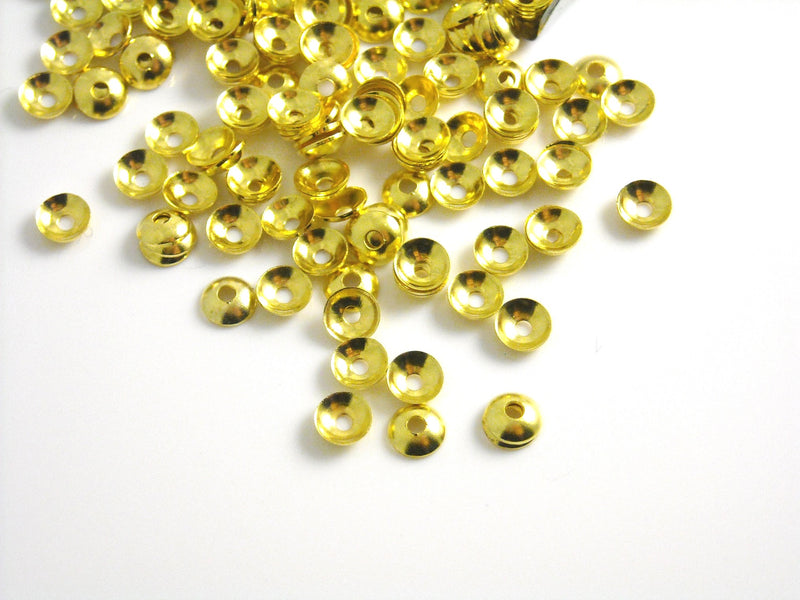 Mini Bead Caps - 14k Gold Plated - 4mm - 50 pcs - Pim's Jewelry Supplies
