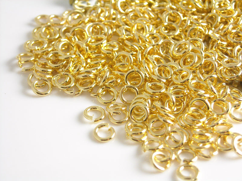 Jump Rings - 18k Gold Plated - 3mm - 30 pcs