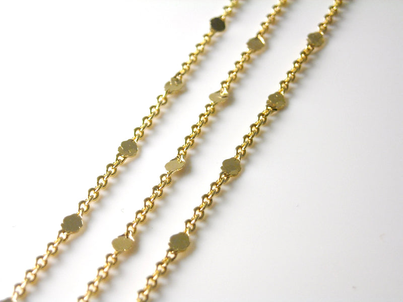 Chain - 18k Gold Plated - Premium Quality - 1.5mm x 1mm - Custom Length