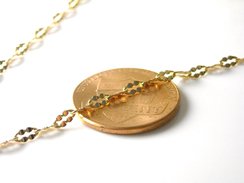 Chain - 18k Gold Plated - Premium Quality - 4mm x 2mm - Custom Length