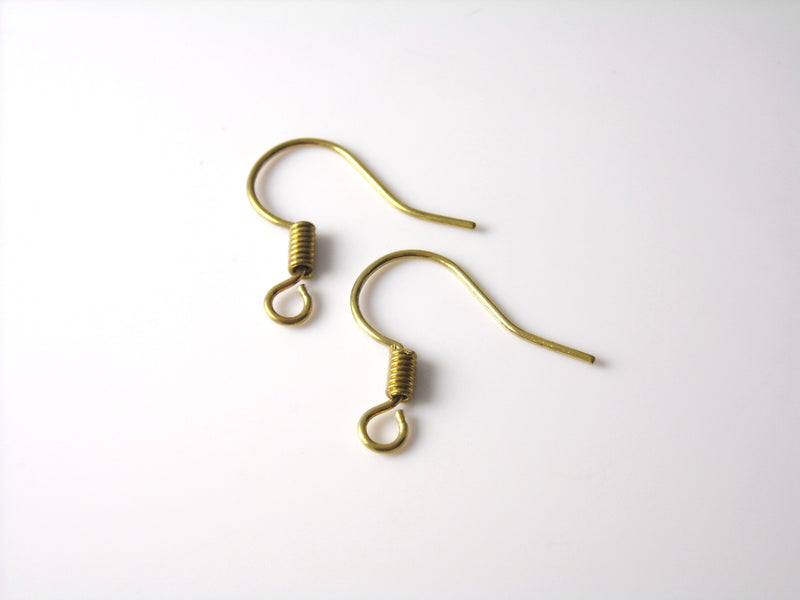 Ear Wire - Raw Brass - 17mm - 20 pcs (10 pairs)