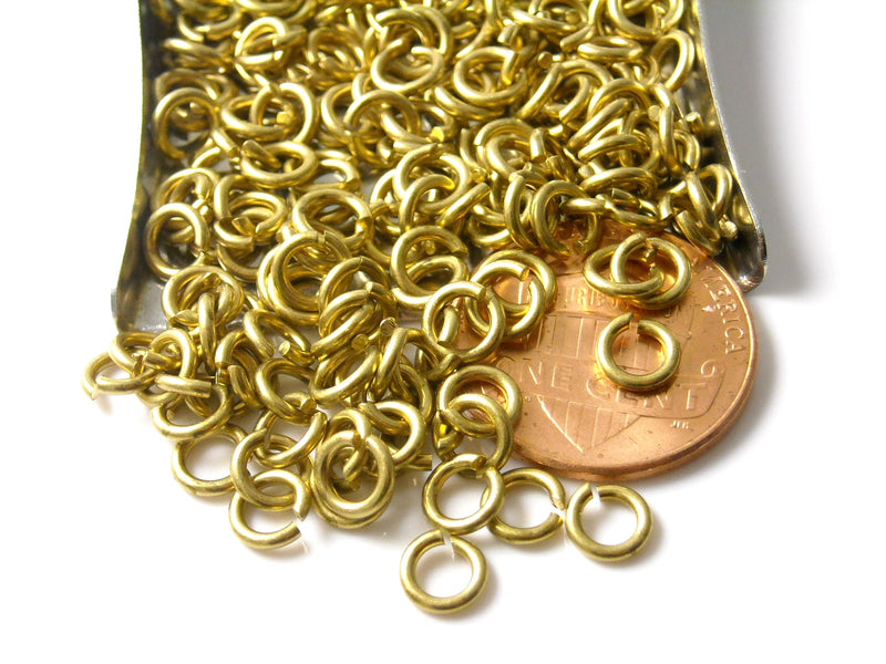 Jump Rings - Solid Brass (Non-plated) - Choose your size