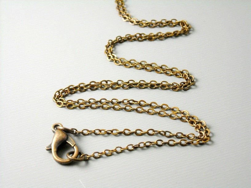 High Quality Antique Copper Plated Brass Necklace, 2mm x 1.7mm - choose your length