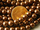 Czech Glass Pearl, Chocolate Brown, 6mm - Full 15-inch strand - Pim's Jewelry Supplies