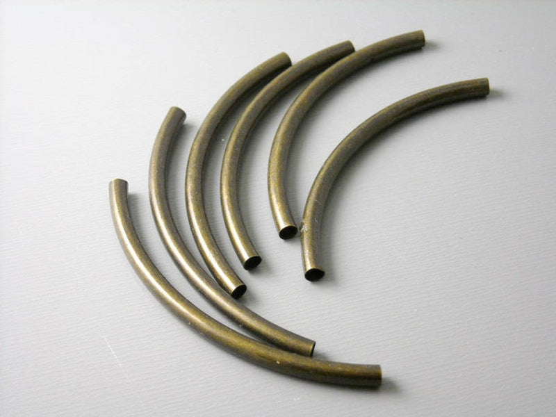 Tubes - Dark Antique Brass - 50mm - 10 pcs