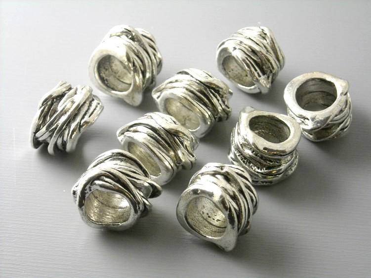 Spacers - Antique Silver - 15x11mm - 10 pcs