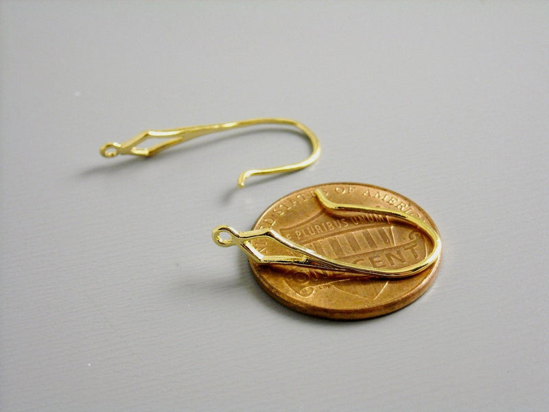 Ear Wire - 14k Gold Plated - 21mm - 4 pcs