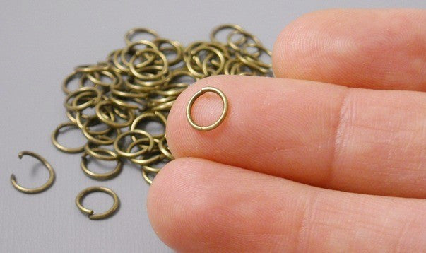 100 of 6mm Antique Bronze Open Jump Rings