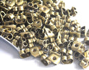 Antique Bronze Earnuts (5.5mm x 4mm) - 20 pcs - Pim's Jewelry Supplies