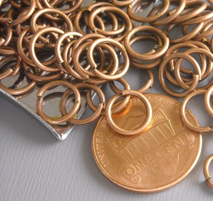100 of 8mm Antique Copper Open Jump Rings