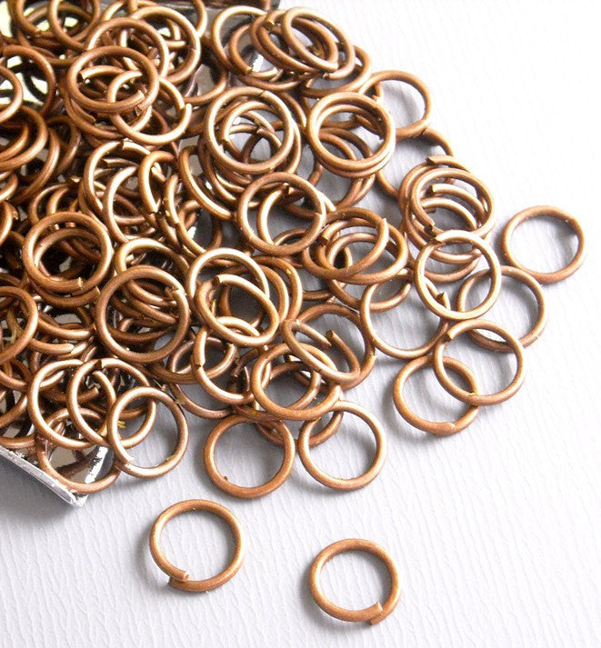 100 of 6mm Antique Copper Open Jump Rings