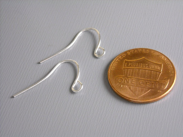 50 pcs of 17mm Silver Plated Earwire