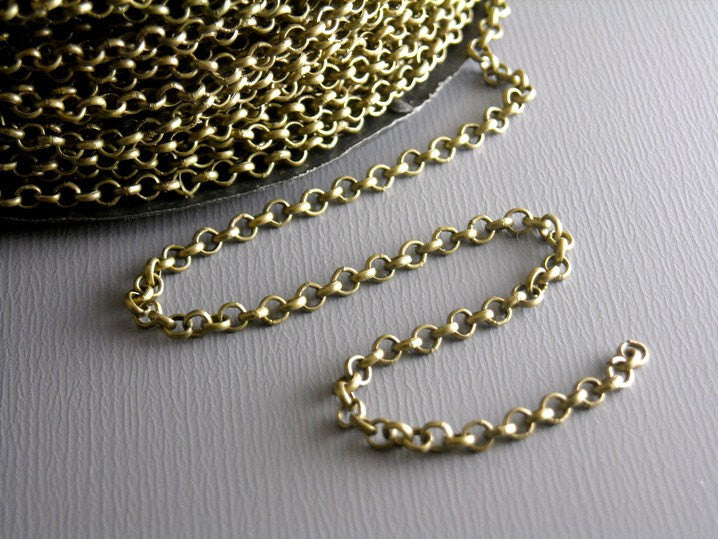 10-ft of Antique Bronze Rollo Chain - 2mm