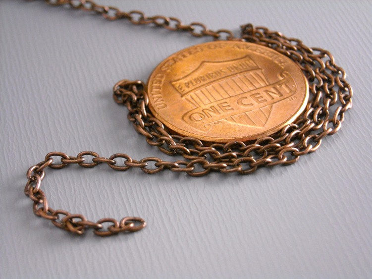 10-ft Fine Antique Copper Chain ( 2.5mm x 2mm )