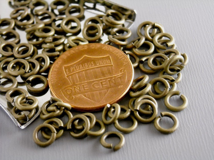 50 of High Quality 5mm 20 gauge Antique Bronze Open Jump Rings - Pim's Jewelry Supplies