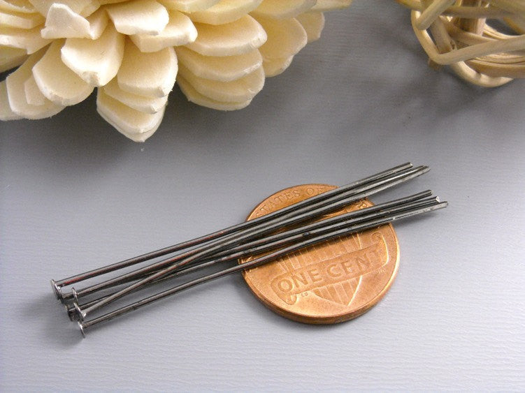 50 pcs of 45mm Gunmetal Headpins (20 guage)