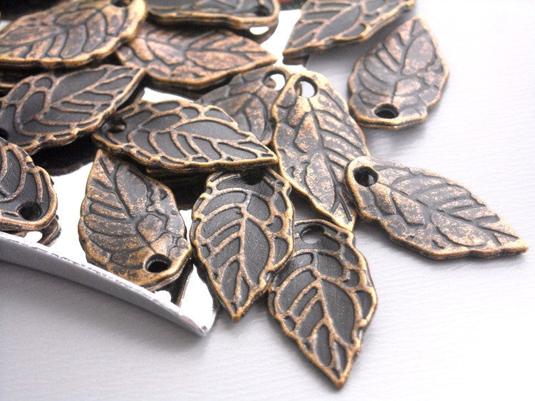 Charm - Antique Silver - Lotus - 16mm - 10 pcs