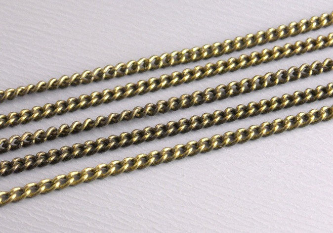 10-Feet Antique Bronze Fine Twisted Link Chain