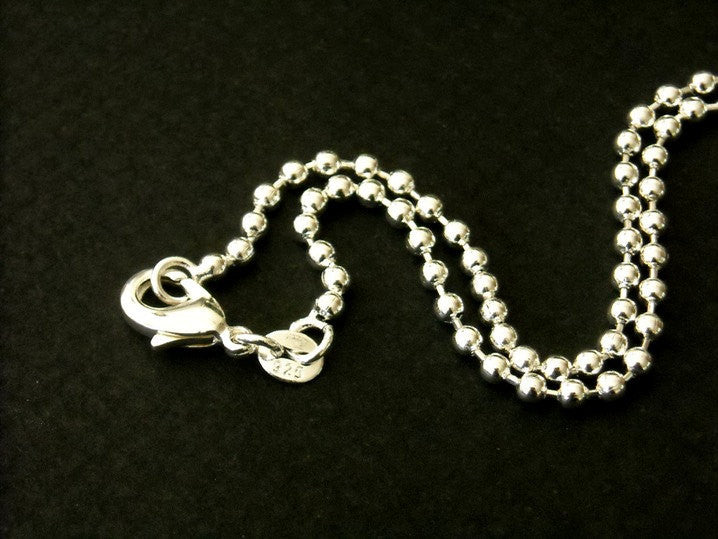 Ball Chain Necklace - Sterling Silver Plated - 1.5mm - 22 inches - Pim's Jewelry Supplies
