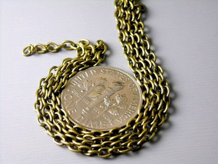 Chain - Antique Bronze Cable Chain - 3mm x 2mm - 10 Feet - Pim's Jewelry Supplies