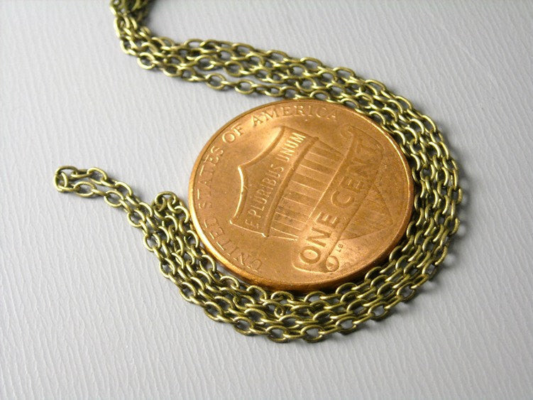 Chain - Antiqued Brass - Soldered Links - 2mm x 1.5mm - 10 feet