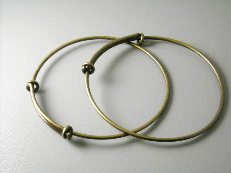 Antique Brass Bangle Wire - 66mm round - 3 gauge
