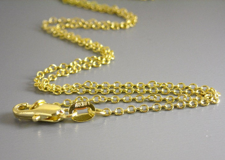 18K Gold Filled Finished Chain - Choose your length - 1 pc