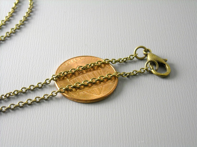 Necklace - Antiqued Brass Plated - 2mm x 1.5mm - Grade A - Choose your length - Pim's Jewelry Supplies