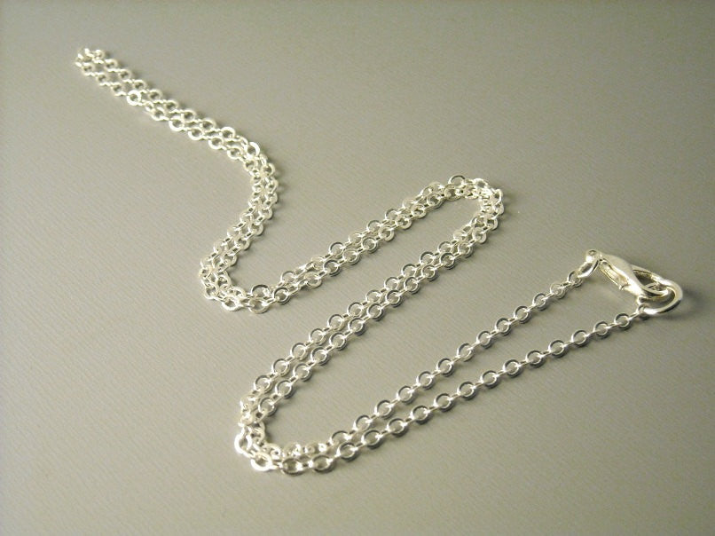 High Quality Silver Plated Chain, 2.5mm x 2mm - 5 pcs  - Choose your length