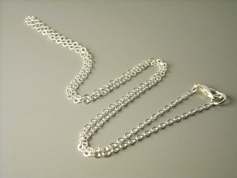 Ball Chain Necklace - Silver Plated - 1mm - Grade A - 18 inches - 5 Necklaces