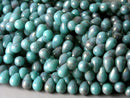 Czech Glass Teardrop, Turquoise Topaz Luster, 6mm x 4mm - 100 pcs - Pim's Jewelry Supplies